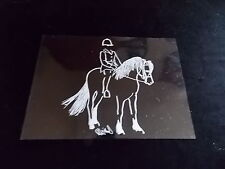 English Pony Rider Decal Truck Trailor Car 5X7 Instruction To Apply Picture #2