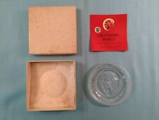 Pairpointe Glass Co Cup Plate Cranberry World Replica of Boston & Sandwich-flyer