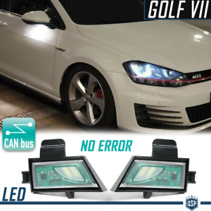 KIT Luci Sotto Specchietti PER Vw Golf 7 CANbus Luce Bianco Ghiaccio Plug & Play
