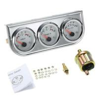 52MM Voltmeter +Water Temp +Oil Pressure Auto Gauge Meter 3in1 bezel Gauge T4Y1