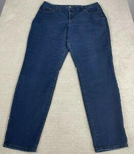 Style & CO. Denim Women's Curvy Blue Jeans Tummy Control Skinny Leg Size 16