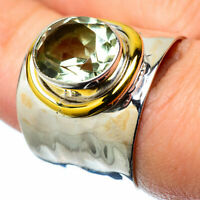 Green Amethyst Copper 925 Sterling Silver Ring Size 7 Ana Co Jewelry R28083F