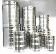 15 un 5 Tazones de X 5 X 5 X Snap on las tapas de medición SP Conjunto de Cocina de Acero Inoxidable