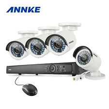 ANNKE 4MP Night Vision POE System 8CH 6MP NVR Home Security IP Camera System P2P