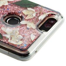 For ZTE SEQUOIA / BLADE Z MAX Z982 - Sally Flower & Rose Pink Glitter Case Cover
