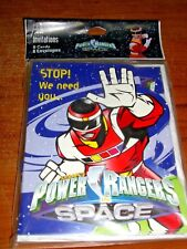 Vintage 8 Party Invitations~ Sabans Power Rangers In Space