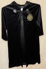Kids Harry Potter Robe  Hogwarts Costume Cloak Black Velvet Size Medium
