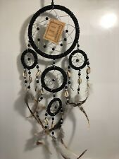 Dream Catcher Bead Feathers Shells Black Native American