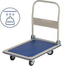 Livebest Foldable Platform Push Hand Cart Luggage Moving Dolly Warehouse Truck