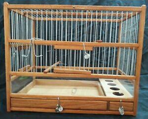 Jolie Cage Oiseaux  en Bois Noble  ,  Avec PlexyGlass