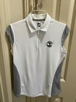 Footjoy Women's Golf Shirt Cap Sleeve Shirt - New Without Tags