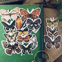 16x Vintage Schmetterling Aufkleber Scrapbooking Selbstklebend DIY Junk Journal