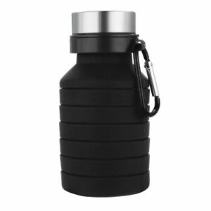 Folding Portable Silicone Water Bottles Design Travel Outdoor Sports Retractable