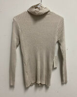 Chico's Women's Turtleneck Ribbed Sweater Coolmax Size 1P New With Tags