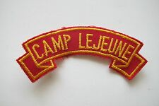 #6712 CAMP LEJEUNE Word Tag Embroidery Sew On Applique Patch