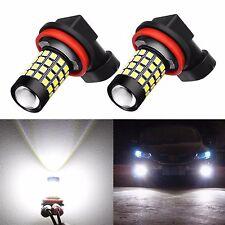 Alla Lighting 2x 2000Lm H16 6000K White 2835 51-SMD LED Fog Driving Lights Bulbs