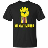 We Are Mauna Kea Ku Kiai Mauna Hawaiian Flag T-Shirt Men's Tee Shirt S-5XL