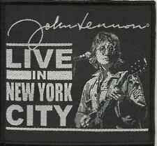 JOHN LENNON live in nyc 2009 WOVEN SEW ON PATCH official merchandise BEATLES