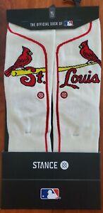 MLB St Louis Cardinals Team Youth Large Socks Size 2-5.5 baseball