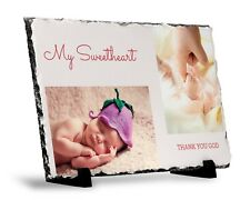 Personalised Rock Slate Custom Images Photo&Text Birthday Christmas Wedding