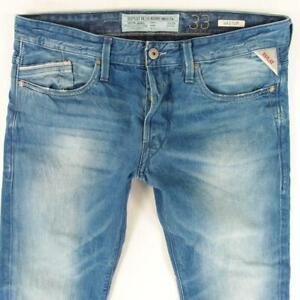 Mens Replay M983 WAITOM Slim Straight Blue Jeans W33 L30