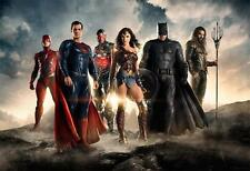 "2017 Batman Super man The FLASH Justice League movie Poster JLea-J021 36x24"""