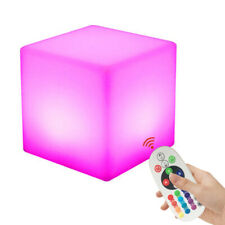 10cm Cube Led Mood Lght Night Light Remote Control Bedside Lamp For Garden