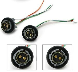 Universal Pigtail Wire Female Socket 1157 U Two Harness Front Turn Signal Fit