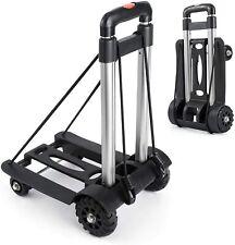 Portable Hand Trucks Luggage,155 lbs Capacity Heavy Duty Hand Cart with 4 Wheels