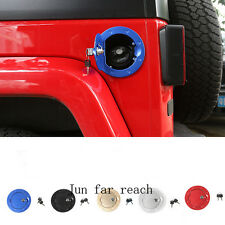 Blue Locking Fuel Tank Cover Auto Gas Tank Cap Cover Lock For Jeep Wrangler