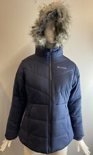 NWT Columbia Girls Katelyn Crest Jacket Fur Hood Navy Size L