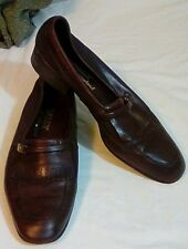 Bally of Switzerland Alengo Brown Mens Supple Leather Loafers 8 M Free Shipping!