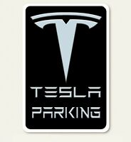 Tesla Parking w/ Border Abstract Art 8 X 12 Novelty Aluminum Sign - New