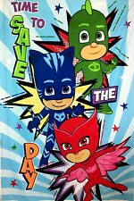 """Pj Mask Catboy, Owlette and Gekko Panel Fabric - L83"""" x W55"""" inches"""