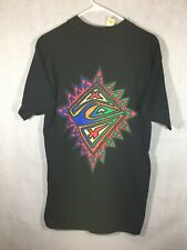 Vintage Quicksilver T Shirt Size Large NWT 90's Black Double Sided Surfer Shirt