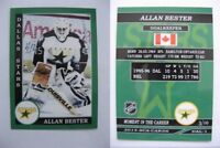2015 SCA Allan Bester rare Dallas Stars goalie never issued produced #d/10