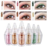 6 Color Metallic Shiny Smoky Eyes Eyeshadow Waterproof Glitter Liquid Eyeliner
