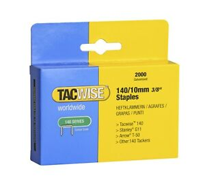 10mm Tacwise Staples type 140 (2000)  Upholstery Supplies