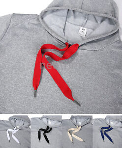 Flat Cotton Drawstring Hoodie String with Stopper Ends,25mm Drawcord Shoelace