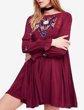 People Mohave Embroidered Woven Mini Dress OB834325 Large L