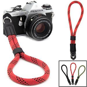 Kamera Handschlaufe aus Seil: Kameragurt Handgelenk für Canon, Nikon, Fuji etc.