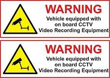2 x VEHICLE ON BOARD CCTV Dash Cam Video Camera Van Truck Car Sticker 15cm