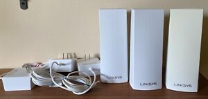 Linksys Velop WHW0303 - 3 pack WiFi mesh modem, white with power supplies