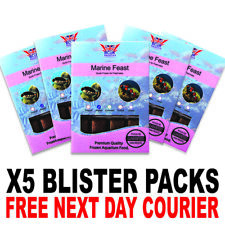 Frozen Fish Food 100g BCUK Blister packs Marine Feast x5 FREE P&P