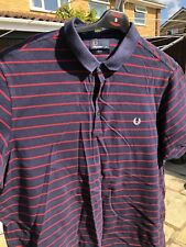 FRED PERRY shirt. Men's xxl Blue/ Red Stripes