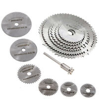 6pcs HSS Rotary Circular Mandrel Saw Wood Cutting Discs Blades Rotary Tool Kit