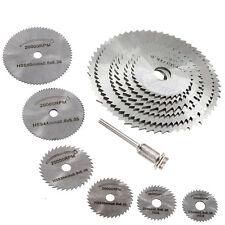6pcs HSS Rotary Circular Mandrel Saw Wood Cutting Discs Blades Rotary Tool Kit