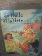 La belle et la Bête Le prince charmant  Leprince de Beaumont  rouge & bleue 1955