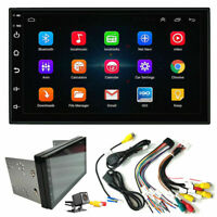"7""Backup Camera+GPS Double Din Car Stereo Radio No DVD Player Bluetooth with Map"