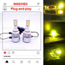 2020 NEW 9005 HB3 LED Headlights Bulbs Professional Kit 55W 5500LM 3000K Yellow